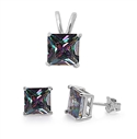 Silver Sets - Rainbow Topaz