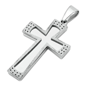 Steel Pendant - Cross