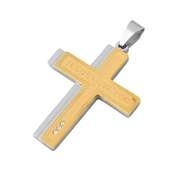 Steel Pendant - Jesus Loves You