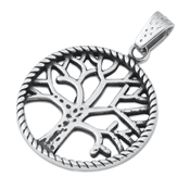 Steel Pendant - Tree of Life