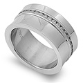 Stainless Steel Ring with CZ - $9.45