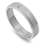 Stainless Steel Ring with CZ -$1.78