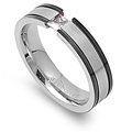 Stainless Steel Ring with CZ - $1.97