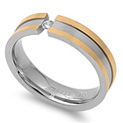 Stainless Steel Ring with CZ - $2.33