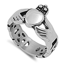 Stainless Steel Ring - Claddagh - $3.48