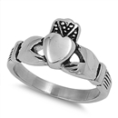Stainless Steel Ring - Claddagh - $3.16