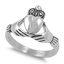 Stainless Steel Ring - Claddagh - $4.03