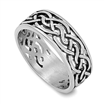 Stainless Steel Ring - Celtic Design