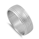 Stainless Steel Band Ring - $1.32