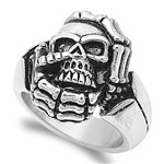 Stainless Steel Ring - Skull