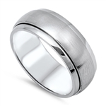 Stainless Steel Spinner Ring - $2.86