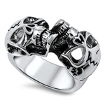 Stainless Steel Skull Ring - $4.00