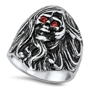 Stainless Steel Skull Ring - $5.7