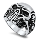 Stainless Steel Skull Ring - $4.88