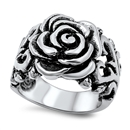 Stainless Steel Ring - Rose - $4.88