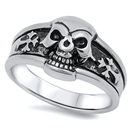 Stainless Steel Skull Ring - $4.60