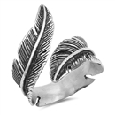 Stainless Steel Ring - Feather - $3.84