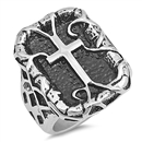 Stainless Steel Ring - Cross - $4.75