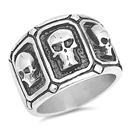 Stainless Steel Ring - Skulls - $4.75