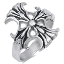 Stainless Steel Ring - Cross - $4.25