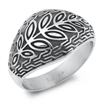 Stainless Steel Ring - Leaves - $3.75
