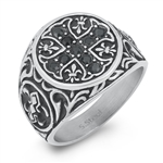Stainless Steel Ring - Celtic Cross - $4.38
