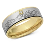 Stainless Steel Ring - Mountains - $4.93