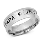 Stainless Steel Ring - Dad