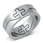 Stainless Steel Ring - Cross