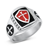 Stainless Steel Ring - Cross - $4.80