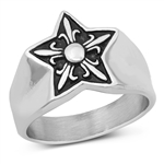 Stainless Steel Ring - Star