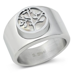 Stainless Steel Ring - Tree of Life - $4.78