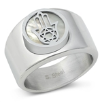 Stainless Steel Ring - Hamsa - $4.78