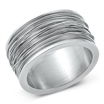 Stainless Steel Ring - Wires - $5.67