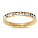 Stainless Steel Eternity Ring W/ Crystal - Clear  -  $3.05