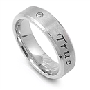 Stainless Steel Ring - True Love Waits