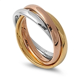 Stainless Steel Ring - 3-Band  -  $4.29
