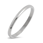Stainless Steel Ring - Wedding band - Comfort Fit  -  $0.98