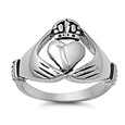 Stainless Steel Ring - Claddagh - $5.05