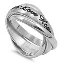 Stainless Steel Ring  - Faith Love Hope - $3.48