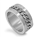 Stainless Steel Ring - Braided Chain