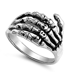 Stainless Steel Ring  - skeleton hand - $4.44