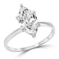 Silver CZ Ring - Marquise - $2.99