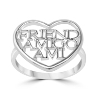 Silver CZ Ring - Friendship - $3.35