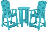 Adirondack High Top Three Piece Bistro Set