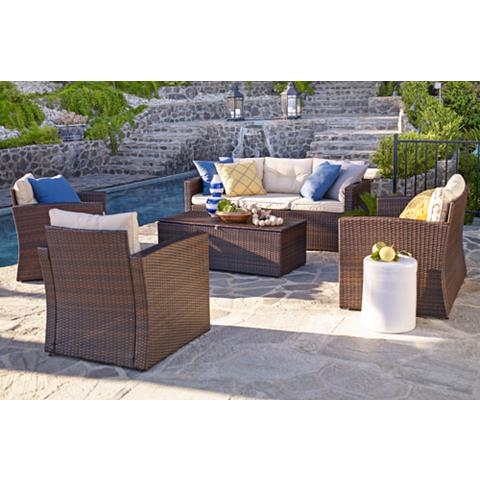 Cascaden Brown Wicker 5-Piece Outdoor Set