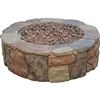 gas fire pit with lava rocks