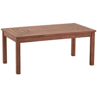 "Outdoor Coffee Table Nantucket 42"" Wide Acacai Wood"
