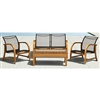 Ruetta 4-Piece Eucalyptus Deep Seating Patio Set
