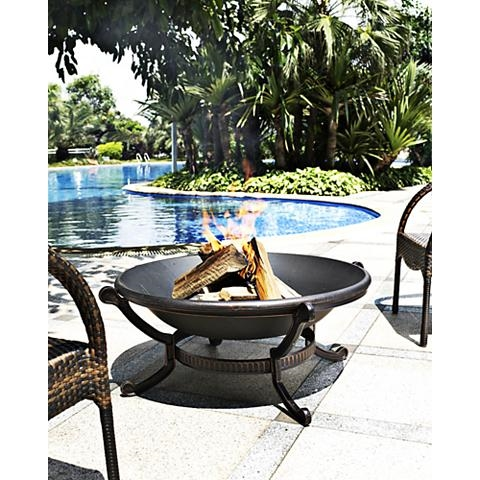 cast iron outdoor fire pit
